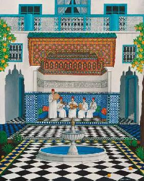 A Riad in Marrakech, 1992 (acrylic on canvas)