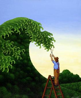 Topiary Wave (acrylic on linen)