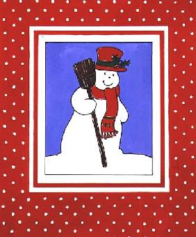 Snowman with his Broom