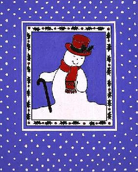 Snowman with his Walking Stick