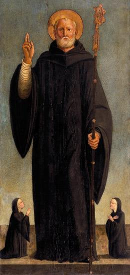 L.Bastiani / Benedict of Nursia / C15th