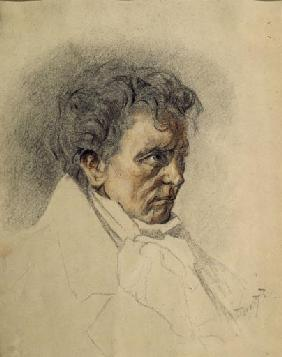 Portrait of the composer Ludwig van Beethoven