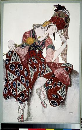 Iskander. Costume design for the ballet La Péri by P. Ducas