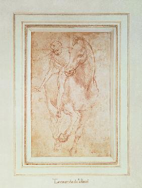 Horse and Rider (silverpoint)2