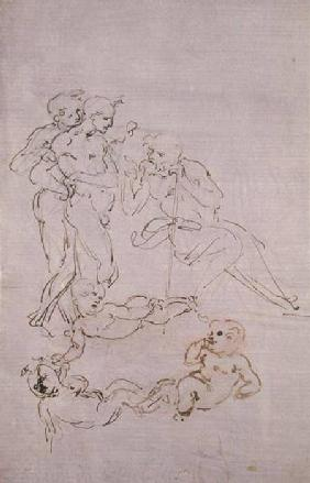 Figure Study for the Adoration of the Three Kings