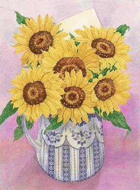 Sunflowers, 1998 (w/c on paper)