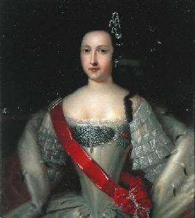 Portrait of Princess Anna (1718-46), the Mother of Emperor Ivan VI (1740-64)