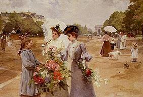 Flower seller on the Avenue you Bois de Boulogne