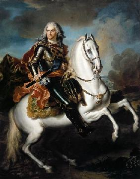 King August II. the (strong) of Poland to horse