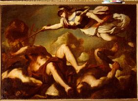 Minerva in the fight against Gigantes
