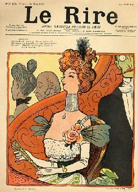 Caricature of a French Marquise, from the front cover of ''Le Rire'', 12th March 1898