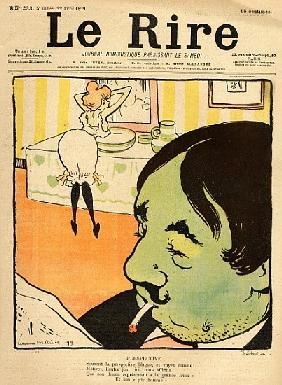 Humorous cartoon from the front cover of ''Le Rire'', 22nd April 1899