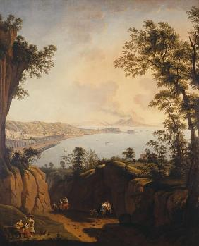 The Gulf of Naples with view at the Vesuv