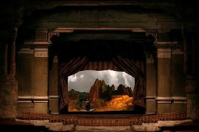 "Stage design for the opera ""The Rheingold"" by R. Wagner at the Festival Theatre in Bayreuth"