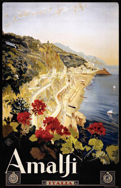 Amalfi Coast Travel Poster