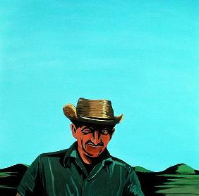 Cuban Portrait #3, 1996 (acrylic on canvas)