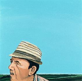 Cuban Portrait #8, 1996 (acrylic on canvas)