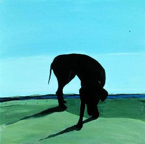 Joe''s Black Dog, 1996 (acrylic on canvas)