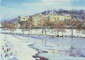 Chatsworth - Midwinter, 1996 (gouache)