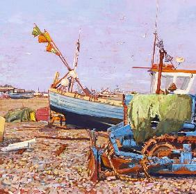 Clear Blue Day (Aldeburgh Beach) 2006 (oil on canvas)