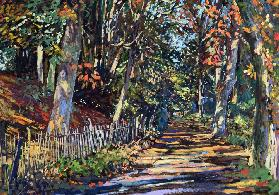 Autumn Light, 2000 (gouache on board)