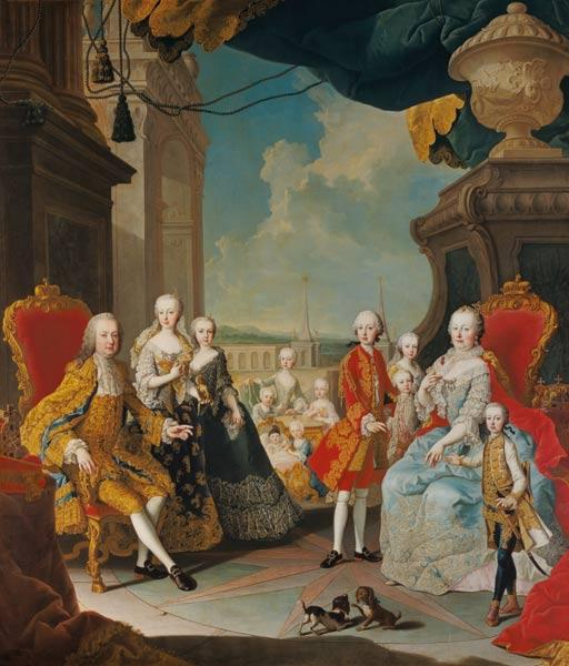Maria Theresia in the circle of her family