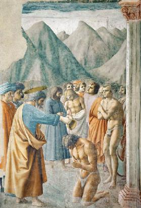 St. Peter Baptising the Neophytes