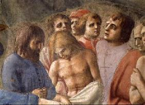 St. Peter Baptising the Neophytes (Detail of faces in the crowd)