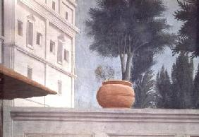 The Raising of the Son of Theophilus, King of Antioch (Detail of the View over the Courtyard Wall)