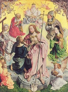 Central panel from the St. Thomas Altarpiece, 1501, Christ and Saint Thomas surrounded by St.Helena,