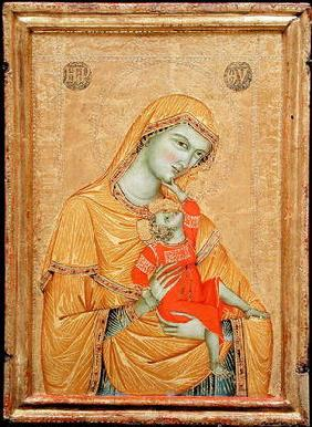 Virgin and Child, 1320 (tempera & gold on panel)