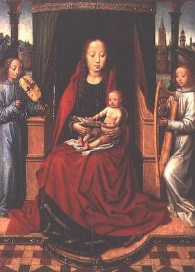Madonna and Child with Two Musical Angels