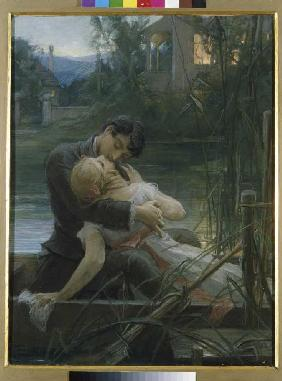 Lovers in the small boat