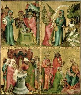 Joachim's Sacrifice, the Circumcision of Christ, the Annunciation to St. Joachim and the Adoration o