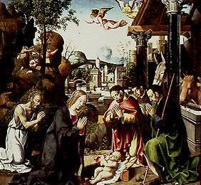 Adoration of the shepherds, proclamation to the shepherds and procession of the St. three kings