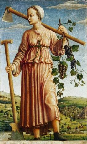 The Muse Polyhymnia as an inventor of the agriculture.