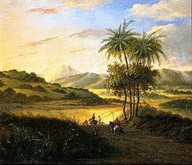 Countryside on Java with riders