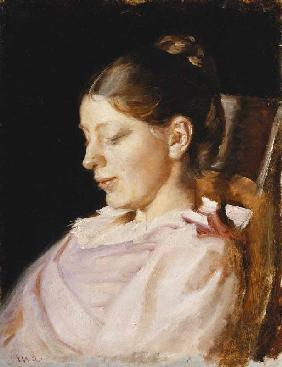 Portrait of Anna Ancher, the artist's wife
