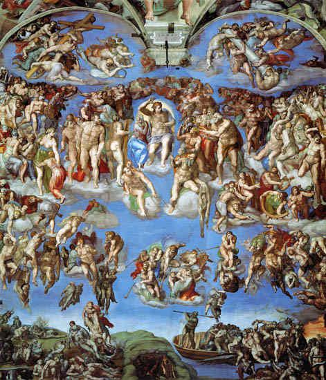 Giudizio Universale - Cappella Sistina Michelangelo - 1508