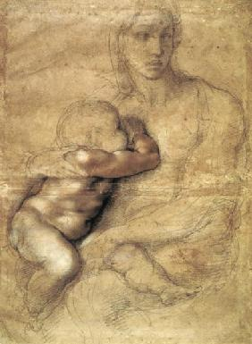 Madonna and child, c.1525 (pencil & red chalk on paper)