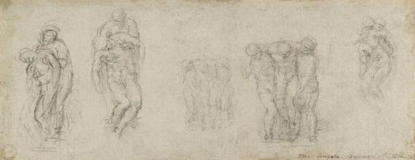 Studies for the Pieta Rondanini, c.1552
