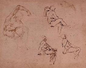 Inv.1859-6-25-568 Figure Studies for a Man (brown ink)
