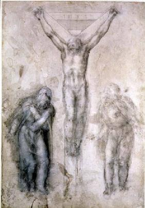 Inv.1895-9-15-509 Recto W.81 Study for a Crucifixion (pencil & chalk on paper)