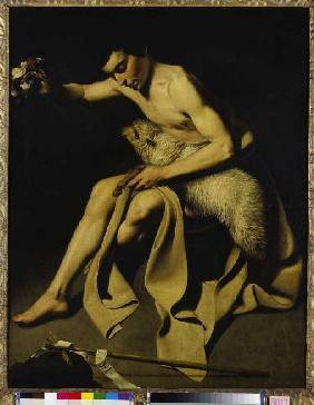 Johannes of the Täufer, playing with the lamb.