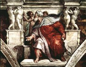 Sistine Chapel Ceiling: The Prophet Ezekiel
