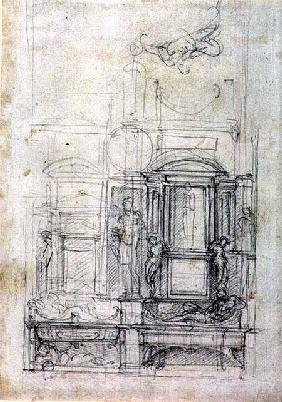 W.26r Design for the Medici Chapel in the church of San Lorenzo, Florence