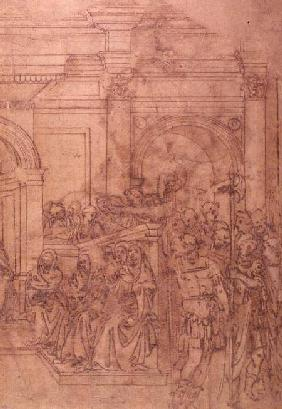 W.29 Sketch of a crowd for a classical scene