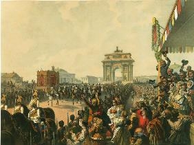 The triumphal entry of Their Majesties into Moscow