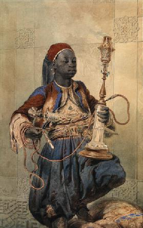 Nubian with a Waterpipe