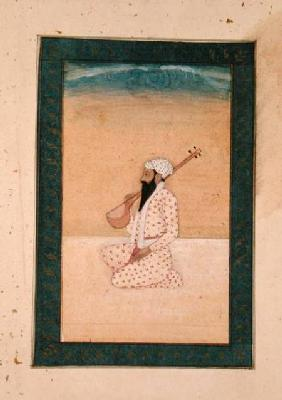 A bearded Tambura Player, from the Large Clive Album